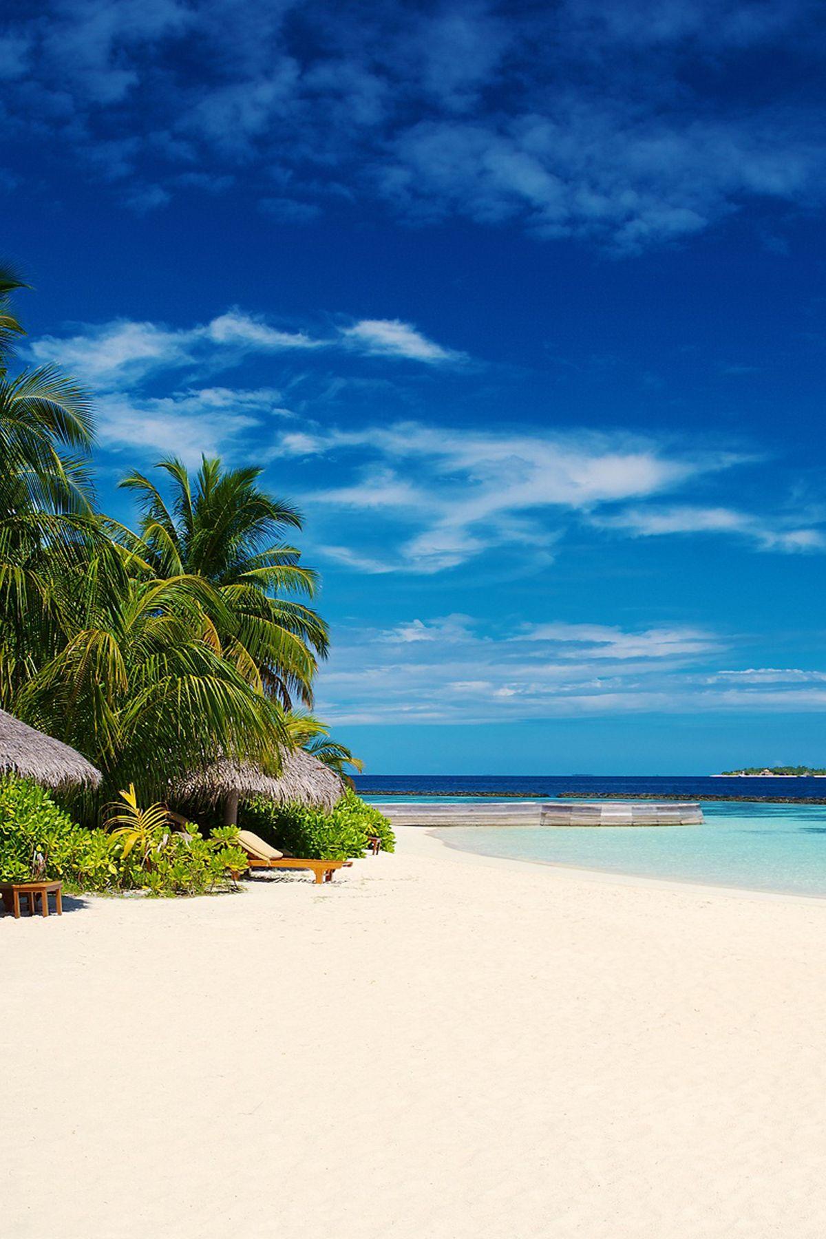 Beautiful Beach Nature And Blue Sky Hd Mobile Wallpaper Natural Beautiful Beach Nature Blue Iphone Andr Beautiful Beaches Maldives Island Visit Maldives