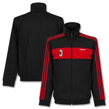1da4f9cf0a60c Chaqueta del AC MIlan adidas Originals - Negro Rojo