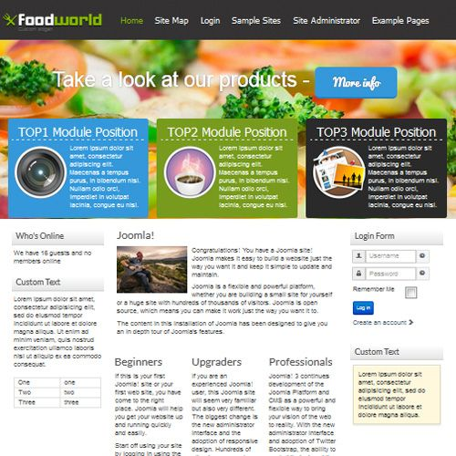 Food World is a Free Joomla Templates under GNU/GPL Free to download ...