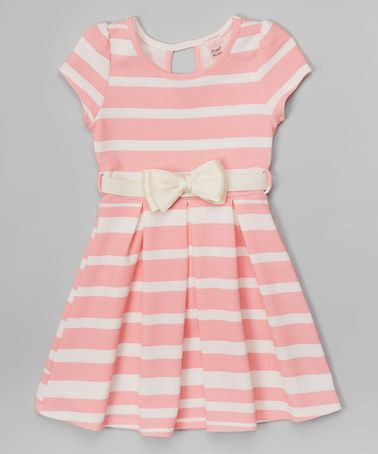 e0ff7ab88ed1 This Pink   White Stripe Pleated Bow Dress - Girls is perfect ...