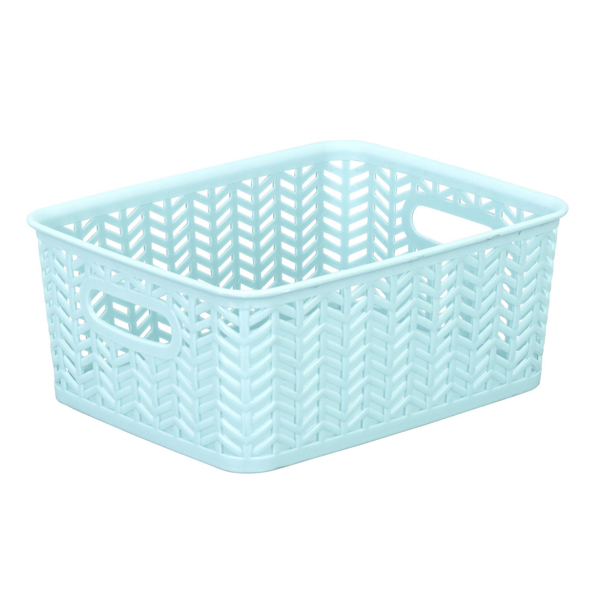 Herringbone Plastic Basket | Products | Pinterest | Plastic baskets ...