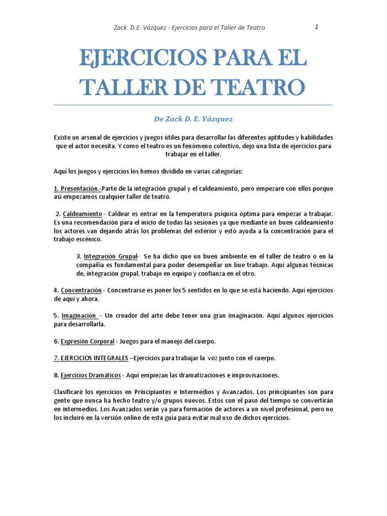 200 ejercicios de actuación tanto para teatro como para cine ...