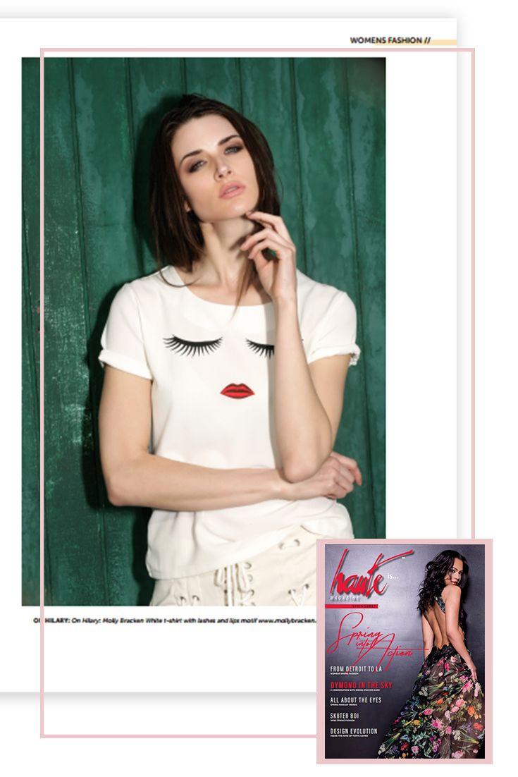 Haut Magazine - USA - Avril 2017 - #lipstick #fashion #webdesign Molly Bracken Spring Summer 2017