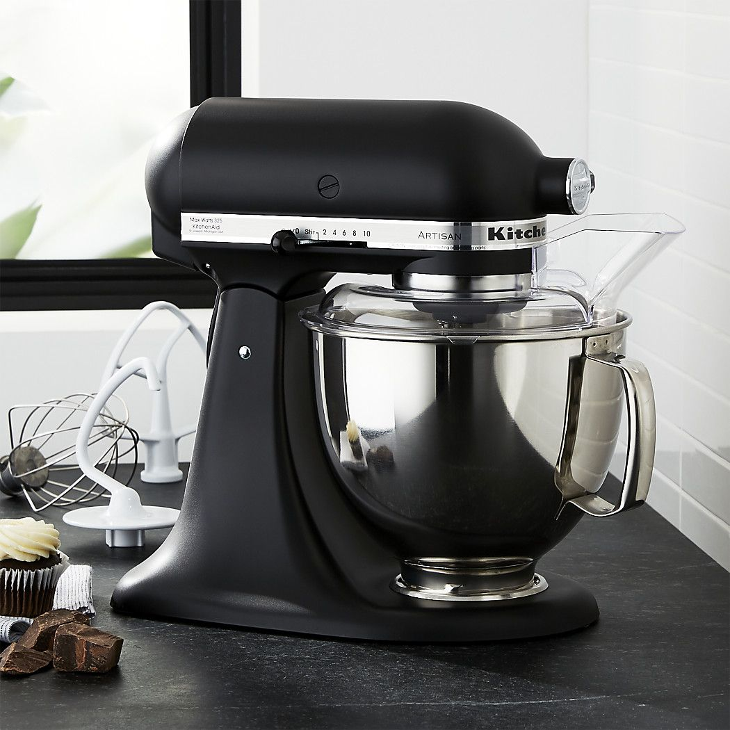 KitchenAid KSM150PSBM Artisan Matte Black Stand Mi + Reviews ...