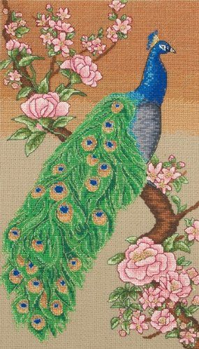 The Peacock Counted Cross Stitch Kit ANCHOR Maia Collection