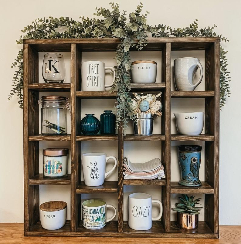 Custom Coffee Mug Holder Wall Shelf Rae Dunn Display Etsy