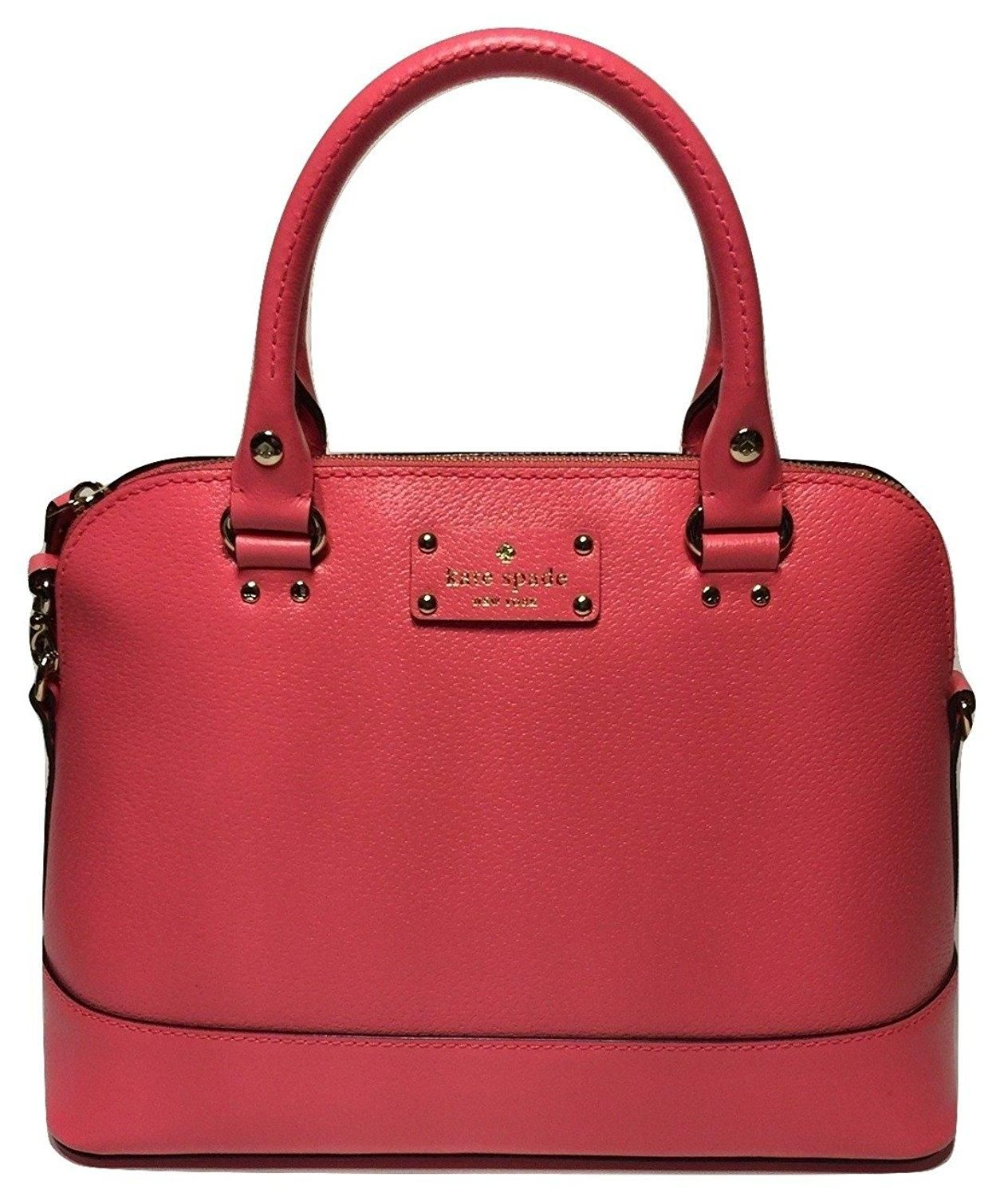 82719b6f46a0d Kate Spade Wellesley Small Rachelle Leather Handbag Wkru2485 (peony)  Shoulder Bag. Get one of the hottest styles of the season! The Kate Spade  Wellesley ...