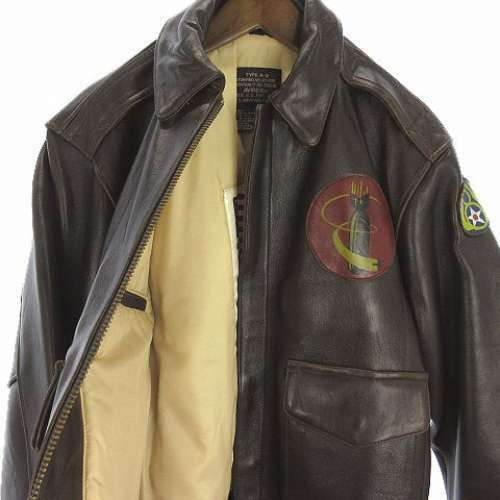Avirex Type A2 Sheep leather Flight Bomber Jacket VICTORY