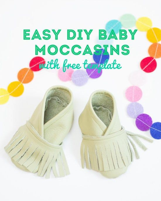 How to make a pair of sweet DIY baby moccasins | Pinterest ...