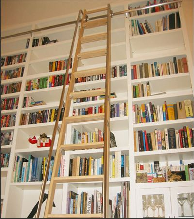 ladder and cubbies