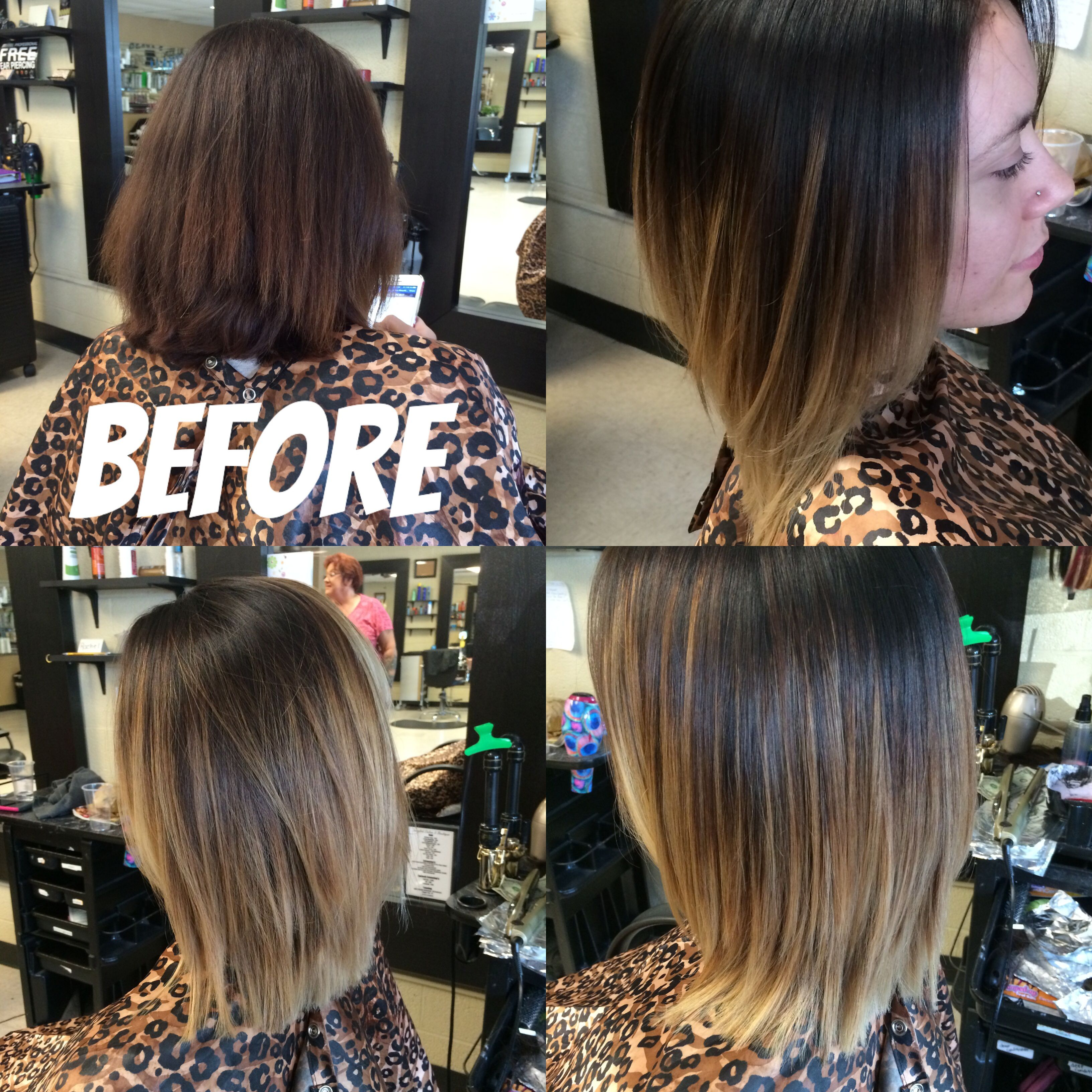 Hair Color Before And After Short Hair Ombre Balayage Women Hair Blonde Ombre Brown To Blonde Ombre Hair Color Ideas