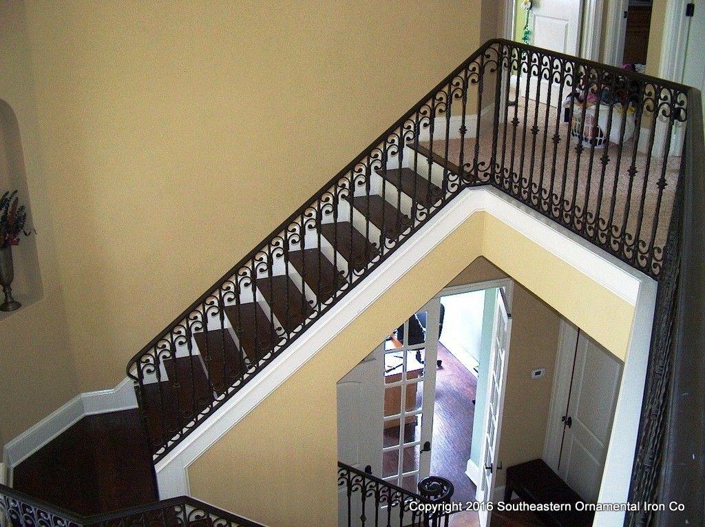 Wrought Iron Stair Railing   Southeastern Ornamental Iron ...