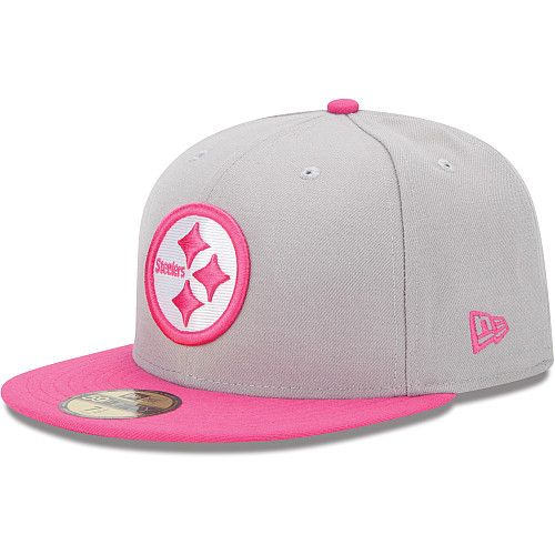 Men s New Era Pittsburgh Steelers Breast Cancer Awareness On Field 59FIFTY®  Structured Fitted Hat e7029cccc