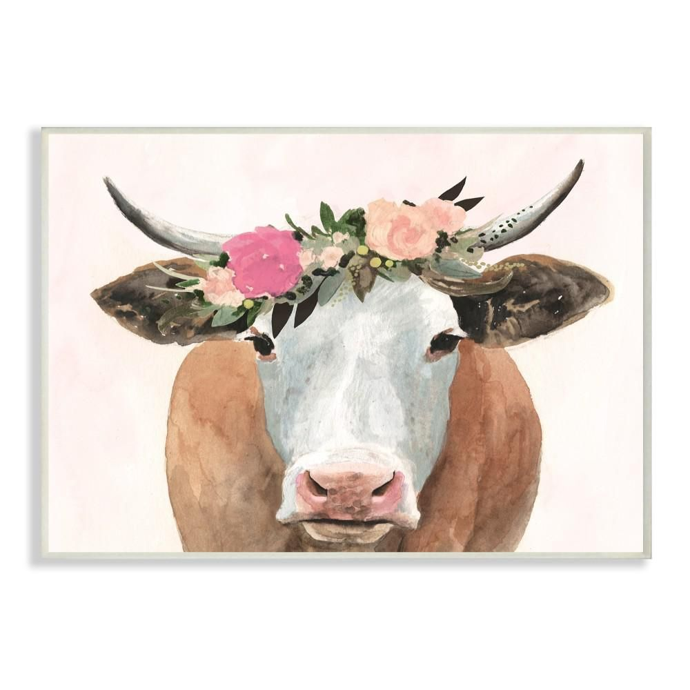 NatureInspired Color Palettes Cow wall art, Stretched