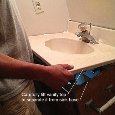 Removing A Bathroom Vanity Cabinet Sink And Faucet Bathroom