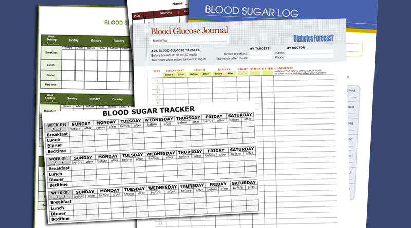 blood sugar log templates for excel word and pdf