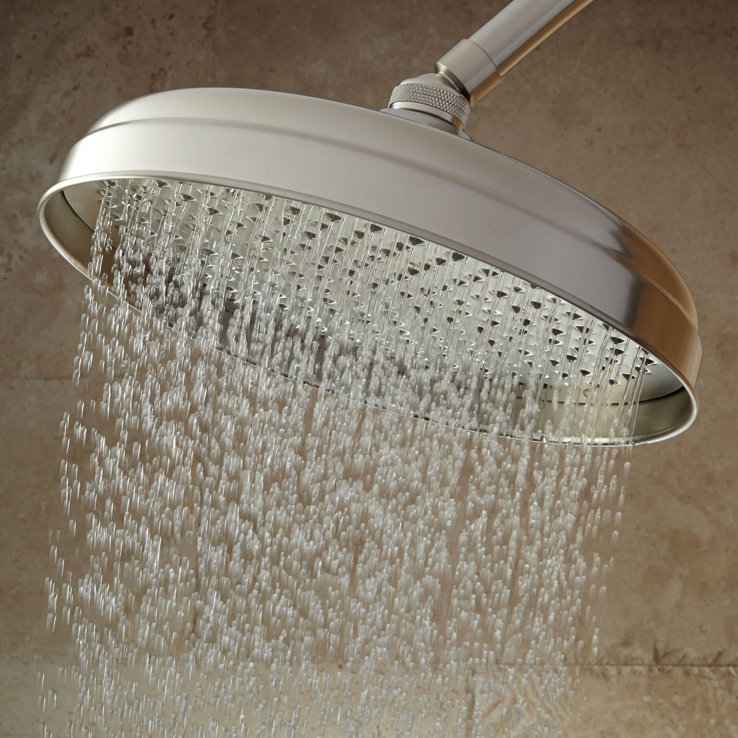 6 Lambert Rainfall Shower Head In 8 Standard Arm In Brushed