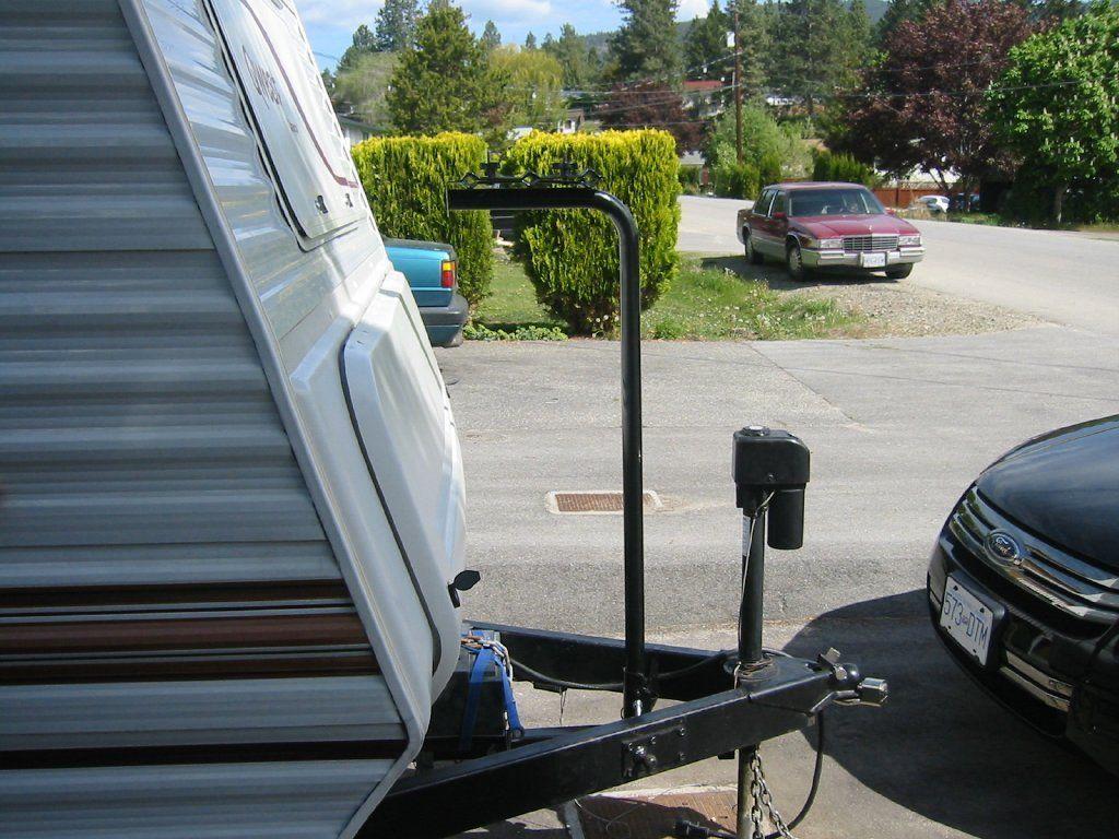 Rv Storage Ideas Custom Tongue Mounted Bike Rack Side