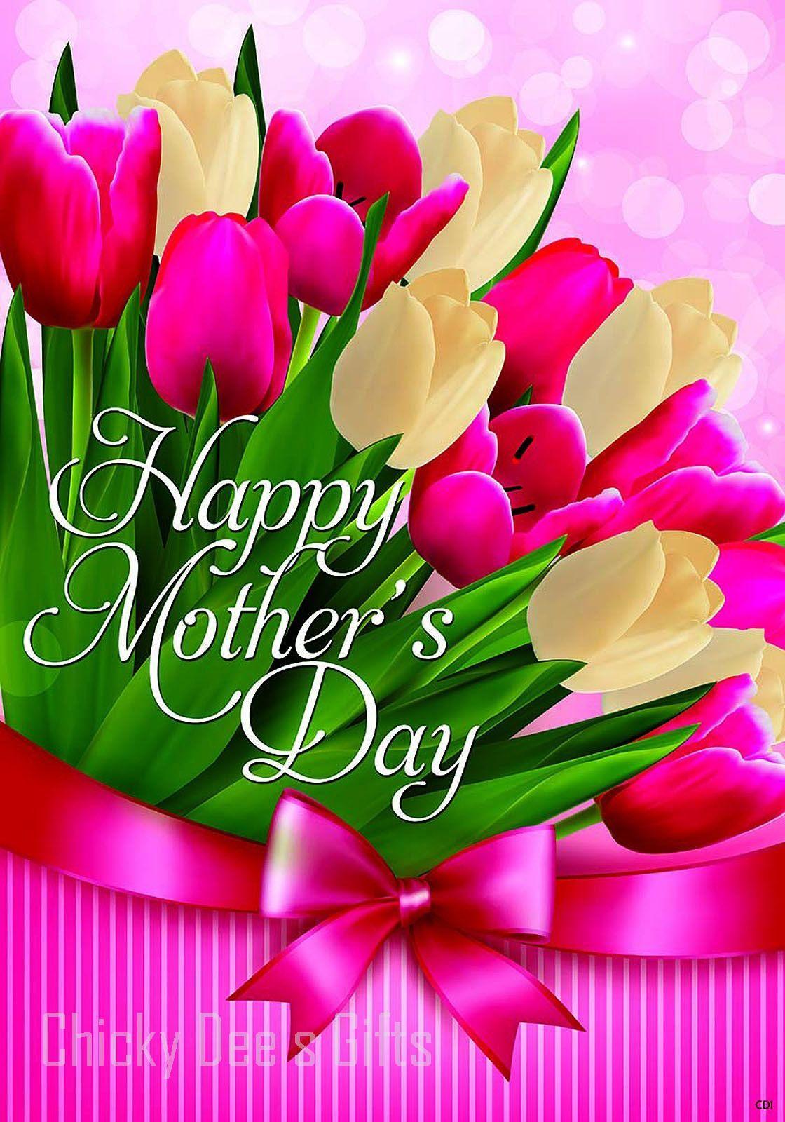 Custom Decor Original Art Tulips For Mom Garden Flag Mpn 2681fm