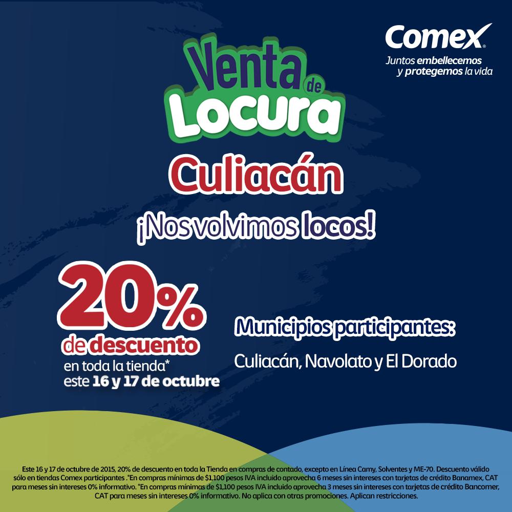 #Culiacán estamos a un día de la gran #VentaDeLocura2015. Checa tiendas participantes ¡No faltes! #ComexPinturerías