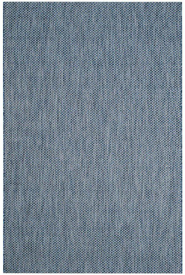 Safavieh Courtyard Navy And Gray 5 3 X 7 7 Sisal Weave
