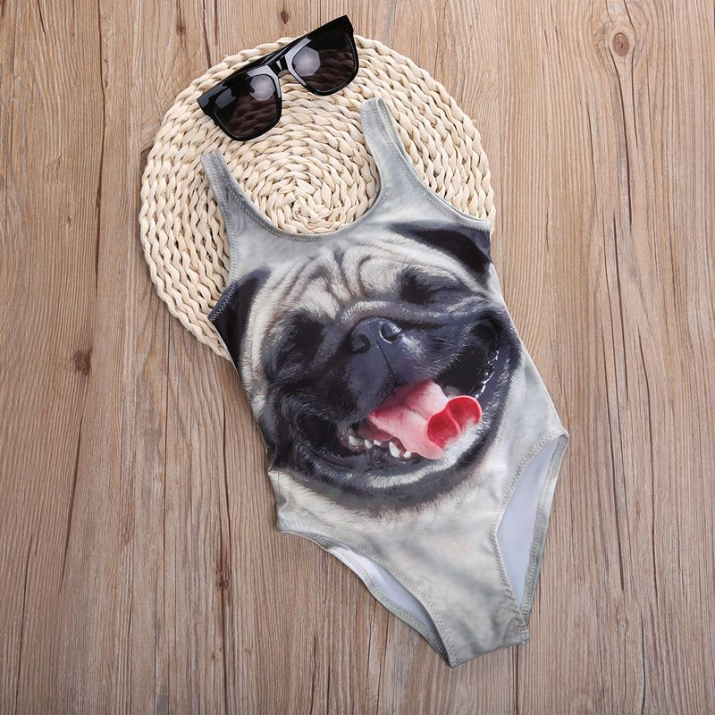 Girls Pug Swimsuit At Www Ilovepugs Co Uk Limited Stock Post
