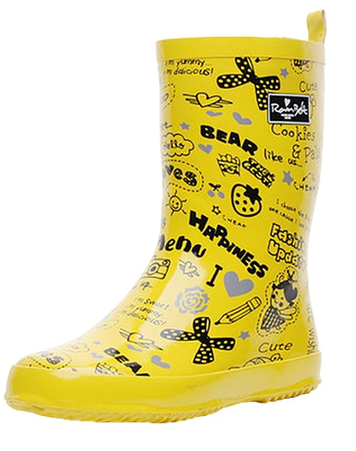 Womens Girls Cute Printed Mid calf Waterproof Rain Boot Anti-Skidding -- Be sure to check out this awesome product.