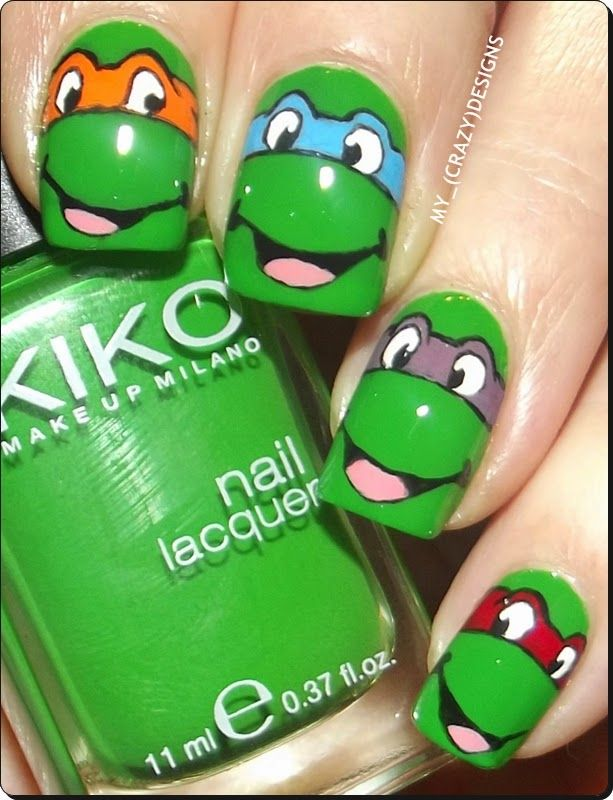 My_(Crazy)Designs: Ninja Turtles nails | nails | Pinterest | Ninja ...
