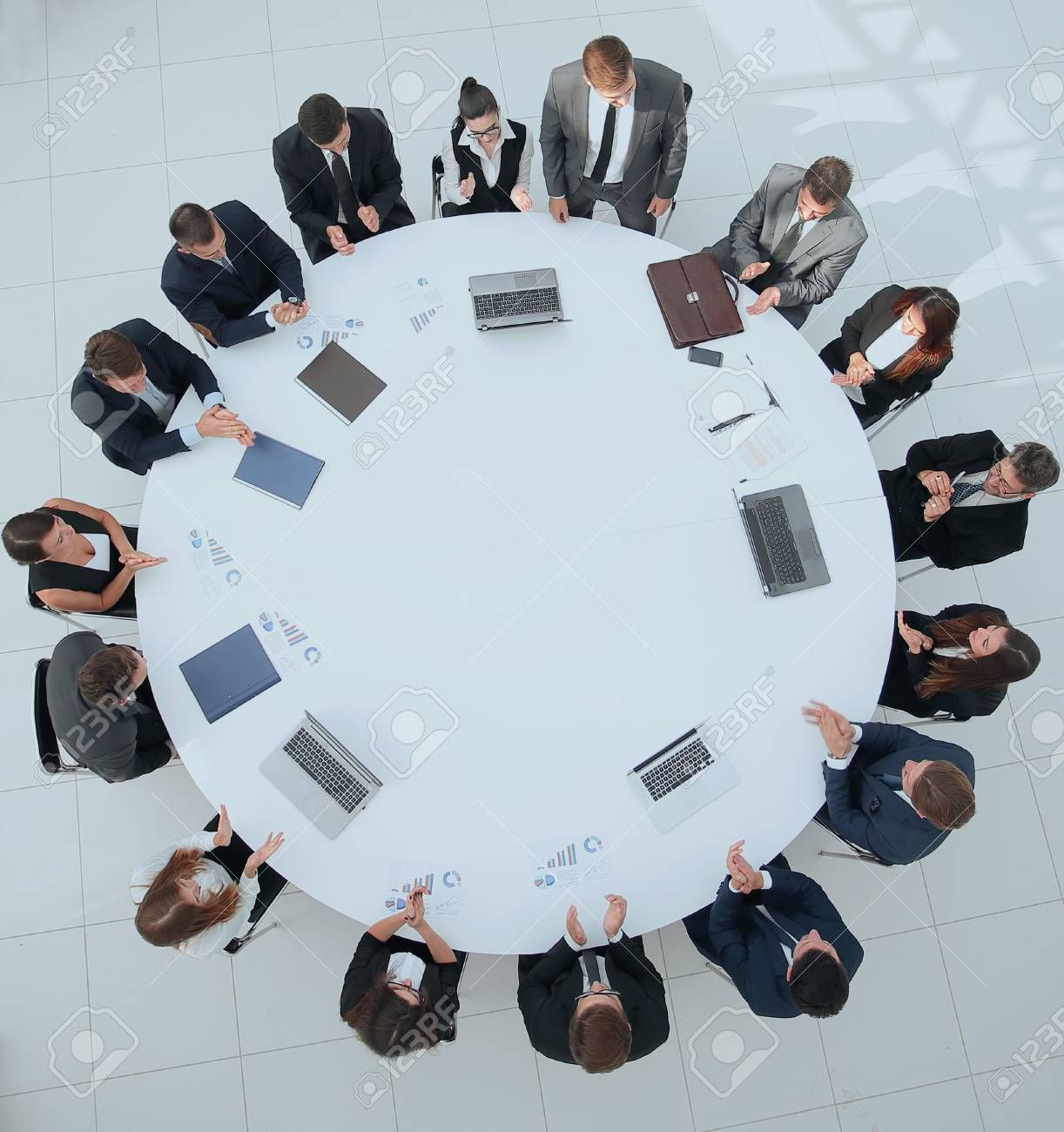 View From The Top Meeting Business Partners For Round Table Stock Photo Sponsored Affiliate Meeting Business View Photo Stock Photos Photo Wall