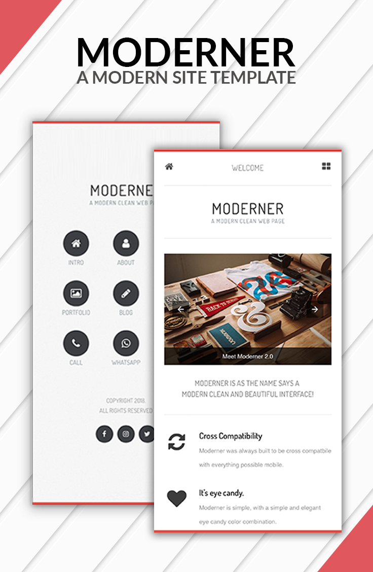 Moderner Mobile Template & Google AMP (With images