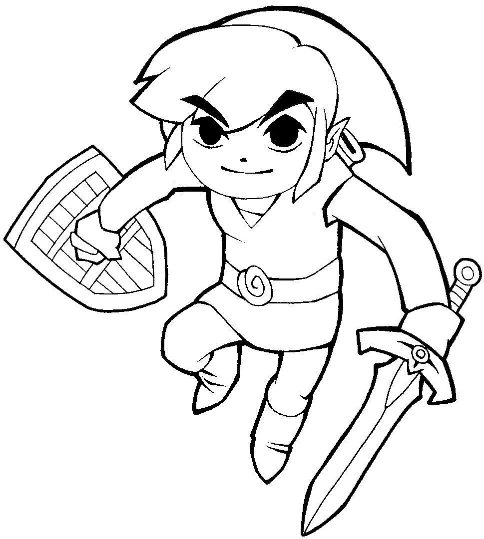 How to Draw Link from Legend of Zelda in Cartoonized Style ...