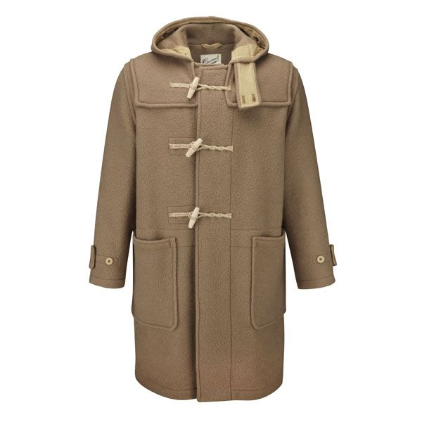 The duffle coat has its origins in the British Royal Navy where it ...