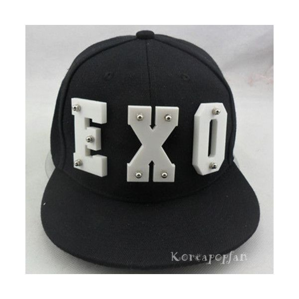2e3e6d54 EXO FROMPLANET KRIS LUHAN SEHUN KAI SNAPBACK HAT CAP KPOP GOODS NEW ❤ liked  on Polyvore featuring accessories, hats, cap snapback, snapback cap, snap  back ...