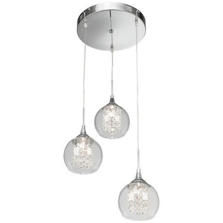 Possini Euro Encircled Crystal Globe 12 W Pendant 59774