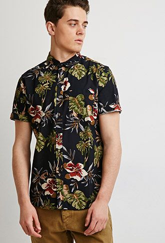 34555760 Tropical Print Shirt | Forever 21 | #thelatest | forever 21| the ...