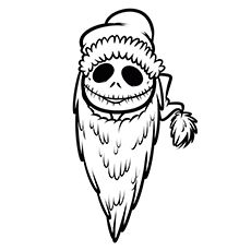 Click Share This Story On Facebook Nightmare Before Christmas Drawings Santa Coloring Pages Jack Skellington Drawing