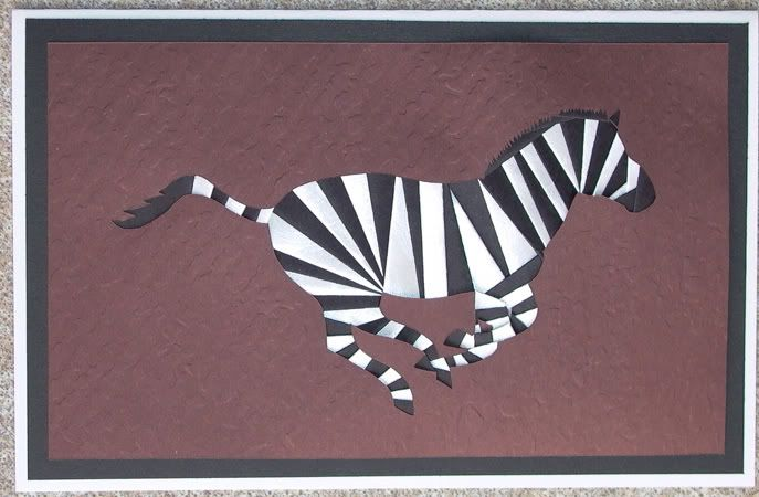 Zebra Iris Fold Card