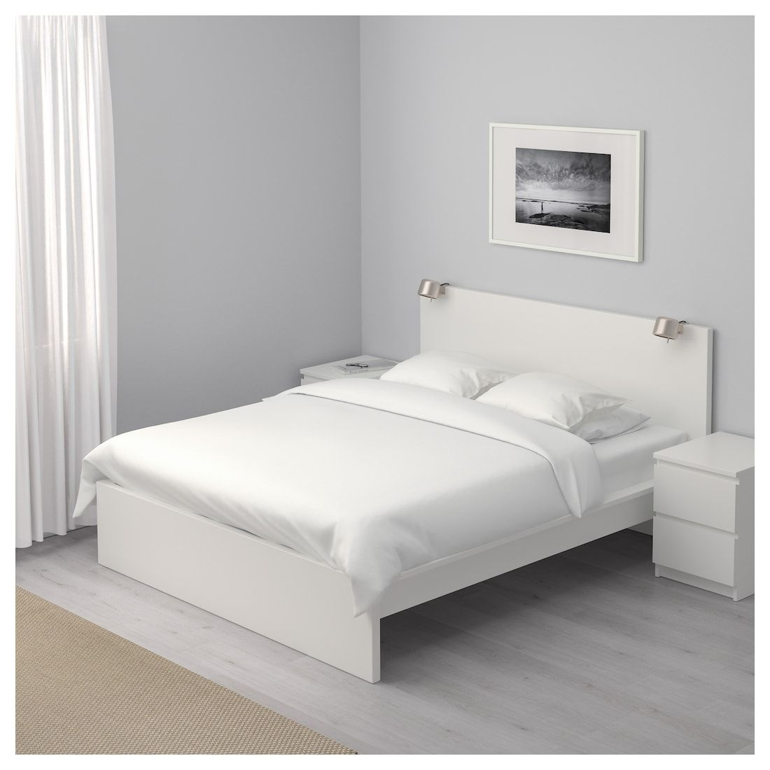 Malm Bed Frame High White Luroy Queen Ikea Malm Bed Frame Ikea Bed Frames White Bed Frame