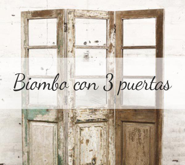 Biombo con puertas de madera ideas diy para decorar tu - Puertas de biombo ...