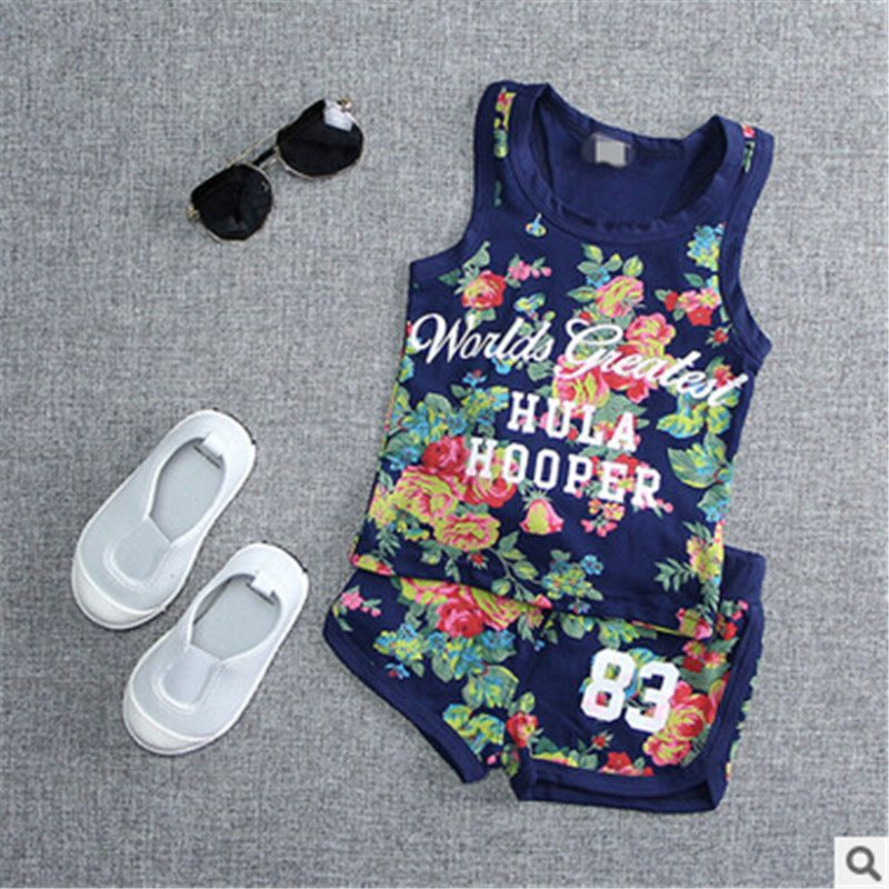 8cca839273e6 2016 Summer Newborn Clothing 9 12 18 24 Months Baby Girl Floral Tank ...