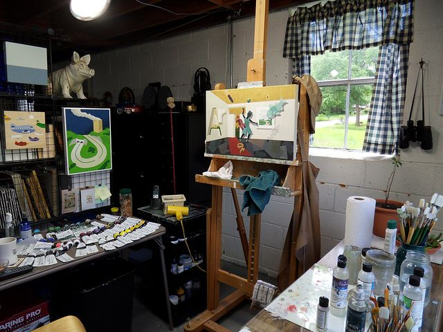 My Studio: May 4, 2010 / Finished Painting on Easel | Flickr – Condivisione di foto!