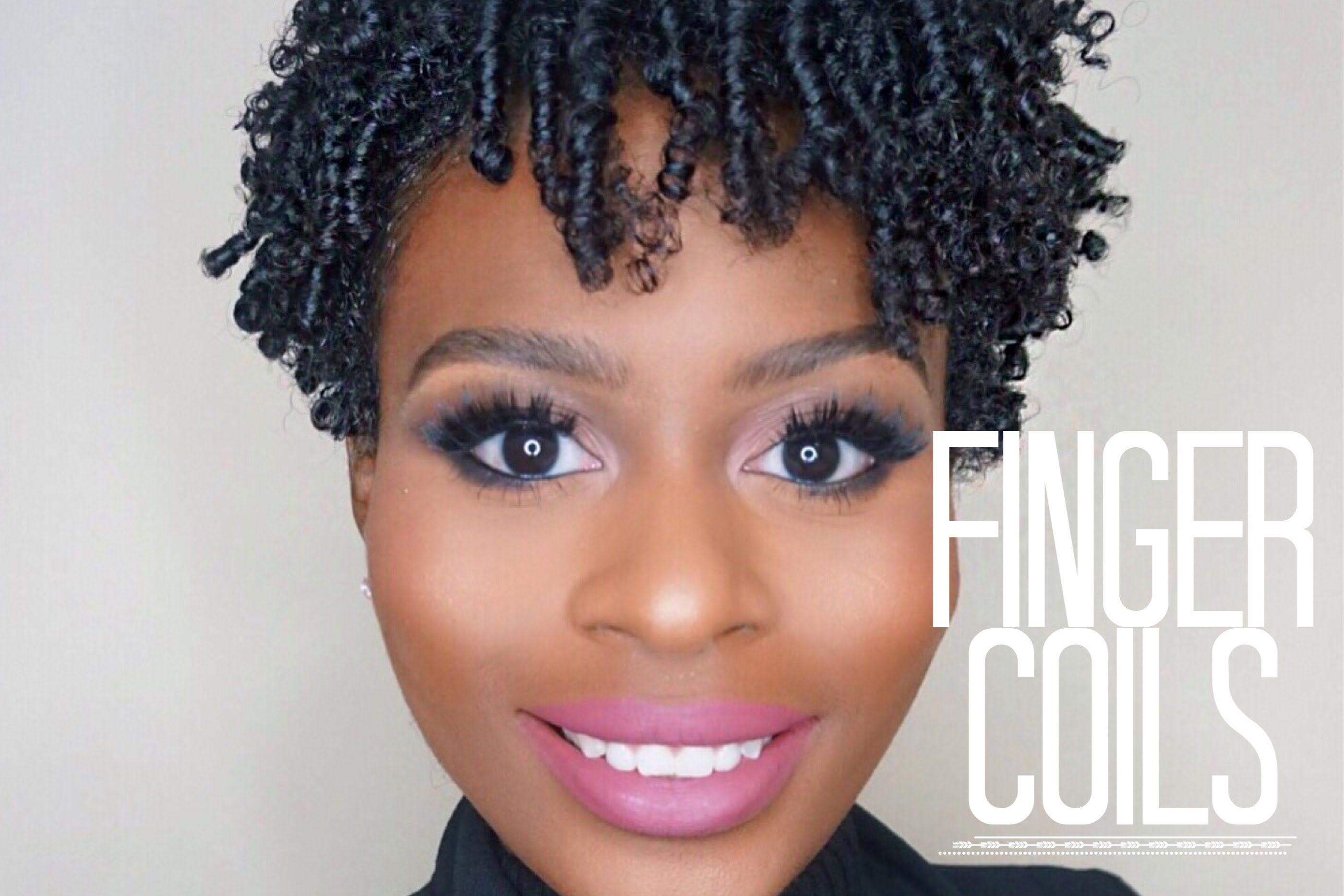 Finger Coil Out On Short Natural Hair