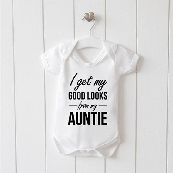 I get my good looks from my auntie funny cute non personalised i get my good looks from my auntie funny cute non personalised baby grow negle Gallery