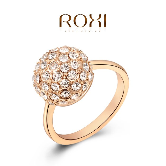 ROXI Christmas gift genuine Austrian crystals rings,top quality ...
