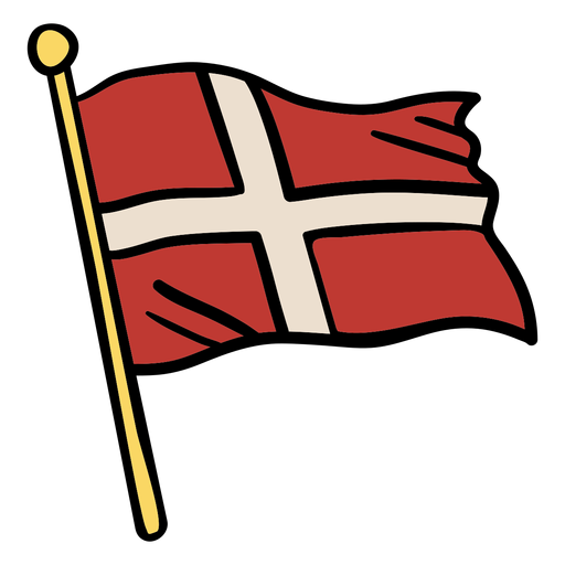 Waving Flag Denmark Illustration Ad Flag Denmark Illustration Waving Flag Drawing Instagram Highlight Icons Brochure Design Template