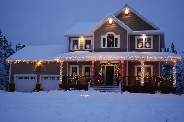Wonderful Example Of Christmas Lighting For Two Story House With Wrap Around Porch Uploaded To Imag Exterior Christmas Lights House Outdoor Christmas Lights