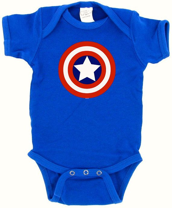422916ffd719 Captain America Onesie Onesie by Encouragers on Etsy