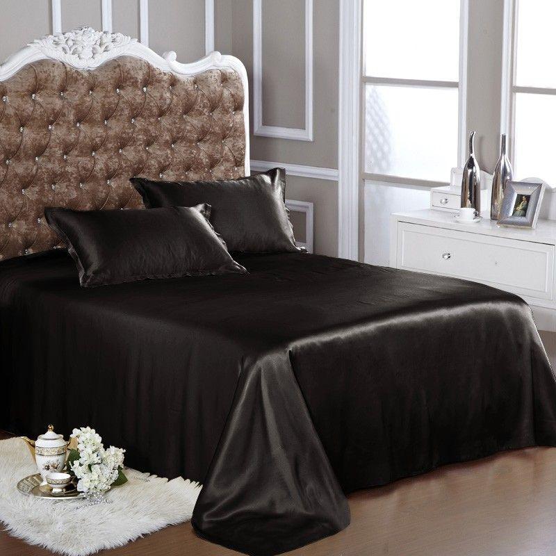Bon Black Silk Flat Sheet