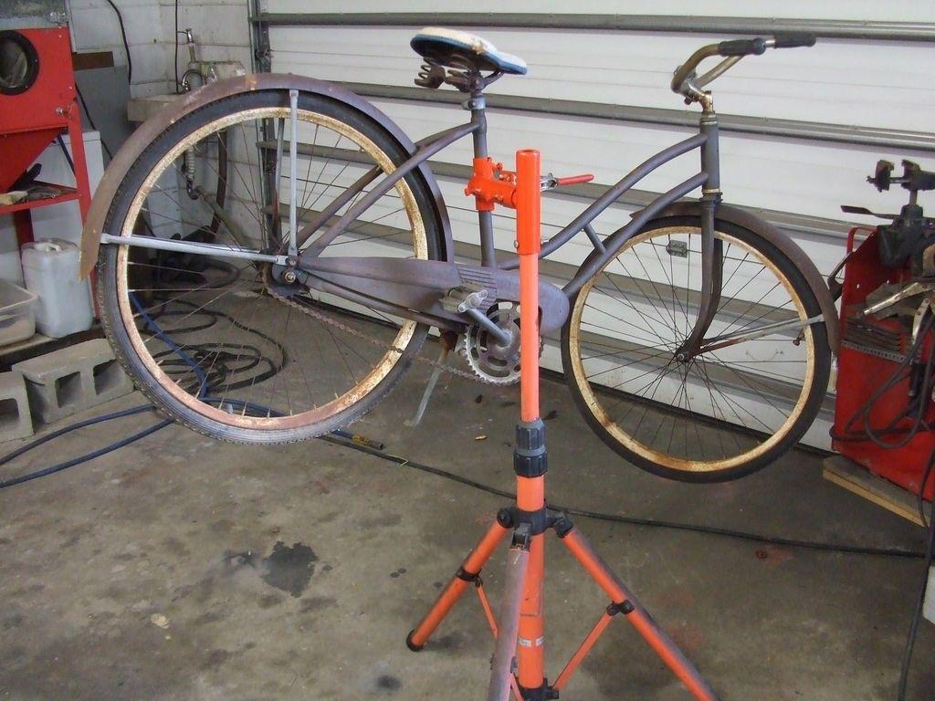 Bicycle repair stand by skrieger homemade bicycle