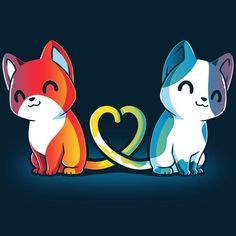 Purrfect Match | Funny cute & nerdy shirts - TeeTurtle  Purrfect Match | Funny cute & nerdy shirts - TeeTurtle
